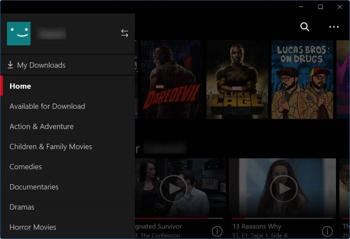 netflix app for pc download movies