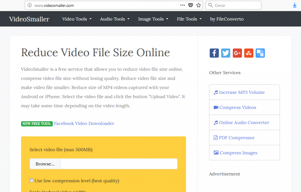 compress video file size online free