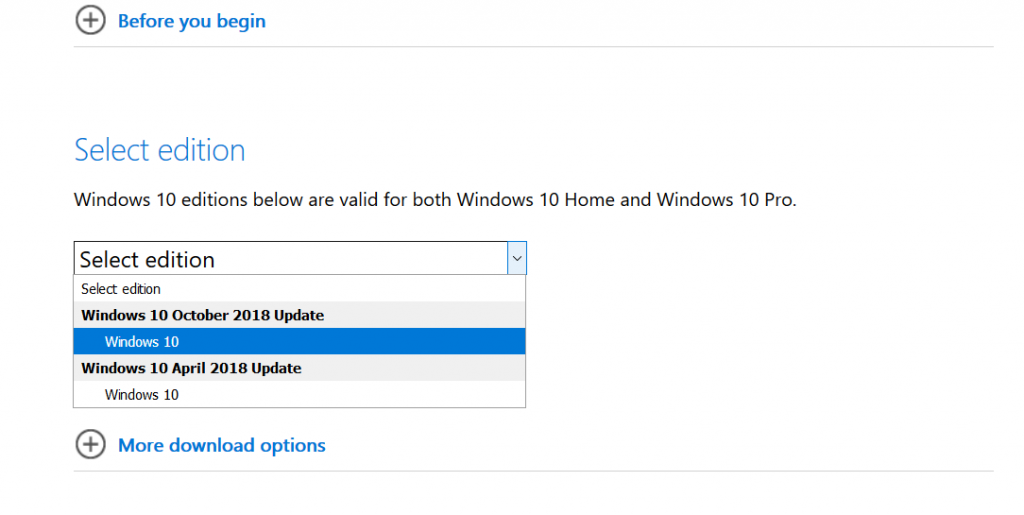 windows 10 october 2018 iso free download